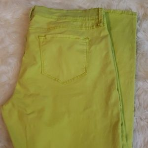 JCPENNEY neon skinny jeans size 16P